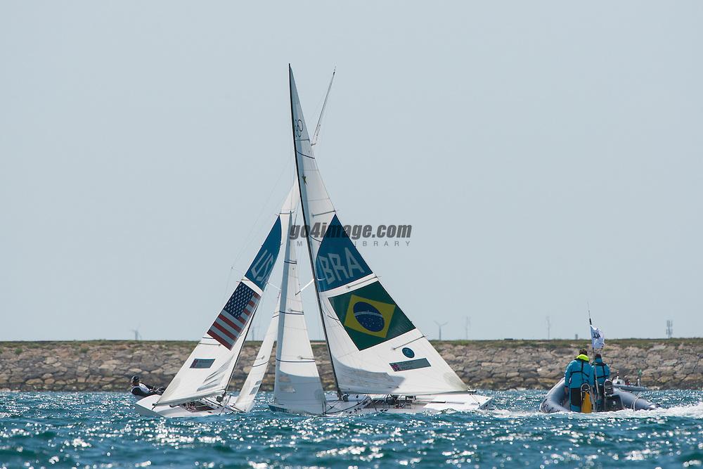 2012 Olympic Games London / Weymouth<br /> Star Medal Race<br /> MENDELBLATT Mark, Fatih Brian, (USA, Star)<br /> Scheidt Robert, Prada Bruno, (BRA, Star)