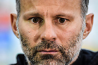 """Head coach Ryan Giggs of Wales national football team attends a press conference after the final match against Uruguay national football team during the 2018 Gree China Cup International Football Championship in Nanning city, south China's Guangxi Zhuang Autonomous Region, 26 March 2018.<br /> <br /> Edinson Cavani's goal in the second half helped Uruguay beat Wales to claim the title of the second edition of China Cup International Football Championship here on Monday (26 March 2018). """"It was a tough match. I'm very satisfied with the result and I think that we can even get better if we didn't suffer from jet lag or injuries. I think the result was very satisfactory,"""" said Uruguay coach Oscar Tabarez. Wales were buoyed by a 6-0 victory over China while Uruguay were fresh from a 2-0 win over the Czech Republic. Uruguay almost took a dream start just 3 minutes into the game as Luis Suarez's shot on Nahitan Nandez cross smacked the upright. Uruguay were dealt a blow on 8 minutes when Jose Gimenez was injured in a challenge and was replaced by Sebastian Coates. Inter Milan's midfielder Matias Vecino of Uruguay also fired at the edge of box from a looped pass but only saw his attempt whistle past the post. Suarez squandered a golden opportunity on 32 minutes when Ashley Williams's wayward backpass sent him clear, but the Barca hitman rattled the woodwork again with goalkeeper Wayne Hennessey well beaten."""