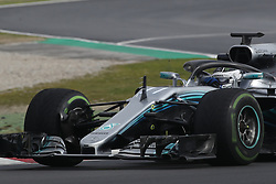 March 1, 2018 - Barcelona, Catalonia, Spain - 1st March 2018, Circuit de Catalunya, Barcelona, Spain; Formula One Grand Prix Testing; Valtteri Bottas of Mercedes-AMG-Petronas Formula One  Team (Credit Image: © Eric Alonso via ZUMA Wire)