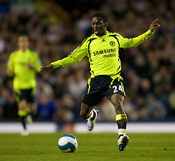 LIVERPOOL, ENGLAND - Thursday, April 17, 2008: Chelsea's Shaun Wright-Phillips in action against Everton during the Premiership match at Goodison Park. (Photo by David Rawcliffe/Propaganda)