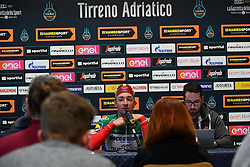 March 15, 2019 - Foligno, Perugia, Italia - Foto Gian Mattia D'Alberto / LaPresse.15/03/2019 Foligno (Italia) .Sport Ciclismo.Tirreno-Adriatico 2019 - edizione 54 - da Pomarance a Foligno  (226 km) .Nella foto:  Elia Viviani ITA, in conferenza stampa..Photo Gian Mattia D'Alberto / LaPresse .March 15, 2018 Foligno (Italy).Sport Cycling.Tirreno-Adriatico 2019 - edition 54 - Pomarance to Foligno (140 miglia) .In the pic:  Elia Viviani ITA, in the press conference (Credit Image: © Gian Mattia D'Alberto/Lapresse via ZUMA Press)