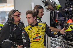 March 1, 2019 - Las Vegas, NV, U.S. - LAS VEGAS, NV - MARCH 01: Ryan Blaney (12) Team Penske Ford Mustang GT during practice for the Pennzoil 400 Monster Energy NASCAR Cup Series race on March 01, 2019, at the Las Vegas Motor Speedway in Las Vegas, Nevada (Photo by Matthew Bolt/Icon Sportswire) (Credit Image: © Matthew Bolt/Icon SMI via ZUMA Press)