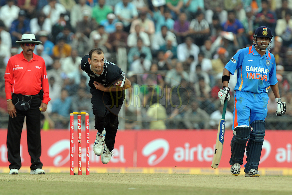 Andy McKay of New Zealand bowls during the 1st ODI (One Day International) held at the Nehru Stadium in Guwahati, Assam, India on the 28 th November 2010.Photo by Pal Pillai/BCCI/SPORTZPICS