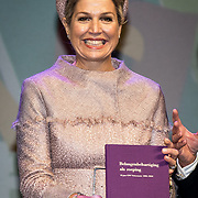 NLD/Nieuwegein/20191129 - Maxima bij jubileumcongres CNV Vakmensen, Koningin Maxima