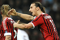 "Zlatan Ibrahimovic Milan<br /> Milano 24/3/2012 Stadio ""Giuseppe Meazza - San Siro""<br /> Football Calcio 2011/2012 Campionato Italiano Serie A<br /> Milan Vs Roma<br /> Foto Insidefoto Andrea Staccioli"