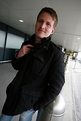 UK ENGLAND LONDON 15APR10 - Stranded airline passenger Thorsten Lehnhardt (31) from Alzenau stands at Heathrow's Terminal 1 awaiting further news of air traffic. Today the UK's airspace was totally closed due to high altitude ash clouds after a volcanic eruption in Iceland...jre/Photo by Jiri Rezac..© Jiri Rezac 2010
