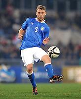 Fussball International, Nationalmannschaft   EURO 2012 Play Off, Qualifikation, Italien - Uruguay      15.11.2011 Daniele De Rossi (Italien)