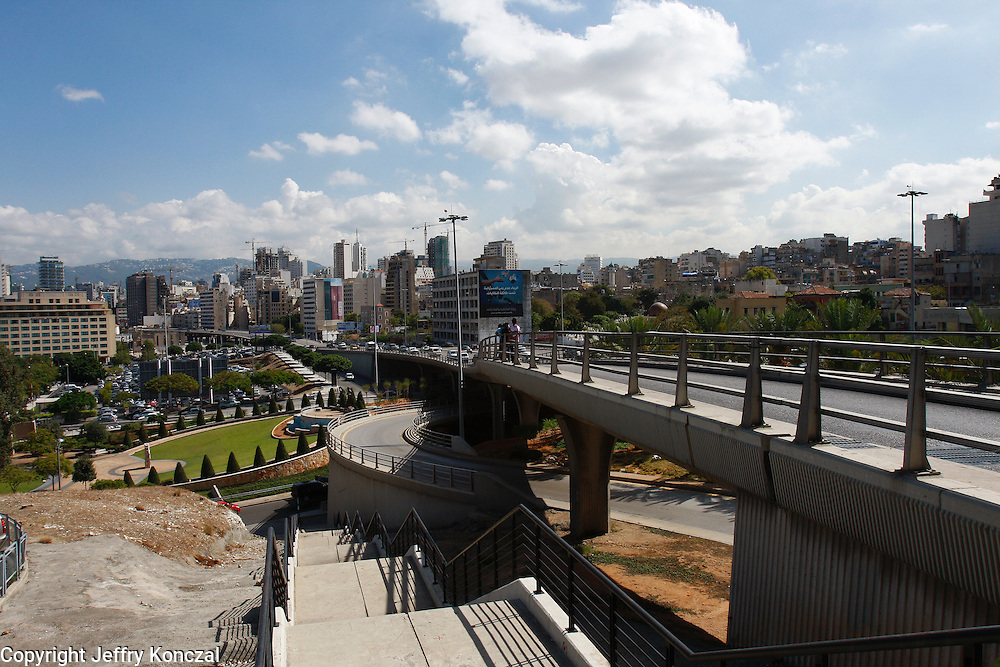 A view of a highway in Beirut, Lebanon.