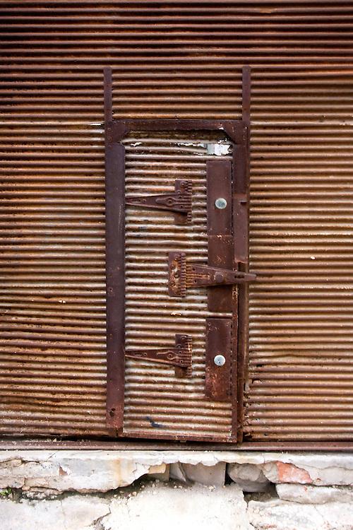 Iron door in Havana Centro, Cuba.