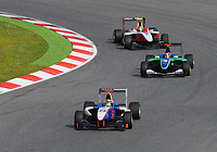 MOTORSPORT - GP3 SERIES 2010 - SPAIN / ESPAGNE - CIRCUIT DE CATALUNYA - BARCELONA (SPA) - 07 TO 09/05/2010 - PHOTO : THIERRY BOVY / DPPI - <br /> PAL VARHAUG (NOR) - JENZER MOTORSPORT - ACTION<br /> ROBERT WICKENS (CAN) - STATUS GRAND PRIX - ACTION<br /> ESTEBAN GUTIERREZ (MEX) - ART GRAND PRIX - ACTION