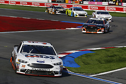 September 30, 2018 - Concord, North Carolina, United States of America - David Ragan (38) races during the Bank of America ROVAL 400 at Charlotte Motor Speedway in Concord, North Carolina. (Credit Image: © Chris Owens Asp Inc/ASP via ZUMA Wire)
