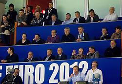 VIP during handball match between Slovenia and Croatia in  2nd Round of Preliminary Round of 10th EHF European Handball Championship Serbia 2012, on January 18, 2012 in Millennium Center, Vrsac, Serbia. Croatia defeated Slovenia 31-29. (Photo By Vid Ponikvar / Sportida.com)