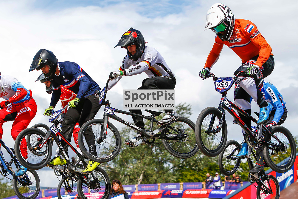 Action form the BMX European Championships at the new Glasgow BMX Centre.