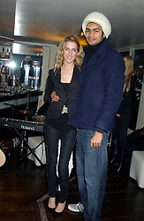 MISS AYESHA MAKIM neice of Sarah, Duchess of York and STEVE WOOD at the launch of a new bar Bardo, 101-105 Walton Street, London SW3 on 29th November 2005.<br /><br />NON EXCLUSIVE - WORLD RIGHTS