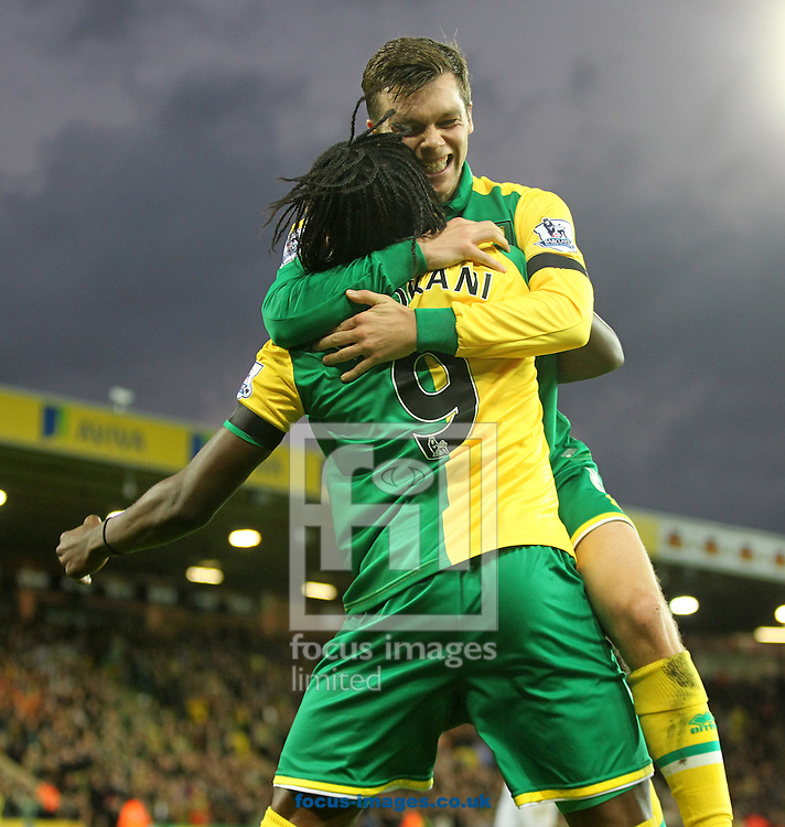 Jonny Howson of Norwich celebrates scoring his sides 1st goal during the Barclays Premier League match at Carrow Road, Norwich<br /> Picture by Paul Chesterton/Focus Images Ltd +44 7904 640267<br /> 07/11/2015