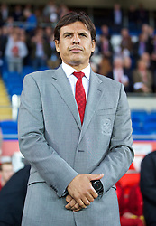 10.09.2013, Stamford Bridge, Cardiff, ENG, FIFA WM Qualifikation, Wales vs Serbien, Rueckspiel, im Bild Wales' manager Chris Coleman during the FIFA World Cup Qualifier second leg Match between Wales and Serbia at the Stamford Bridge stadium in Cardiff, Great Britain on 2013/09/10. EXPA Pictures © 2013, PhotoCredit: EXPA/ Propagandaphoto/ David Rawcliffe<br /> <br /> ***** ATTENTION - OUT OF ENG, GBR, UK *****