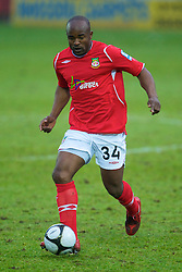 WREXHAM, WALES - Saturday, February 14, 2009: Wrexham's Patrick Suffo in action against Grays Athletic during the Blue Square Premier League match at the Racecourse Ground. (Mandatory credit: David Rawcliffe/Propaganda)