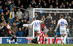 Leeds United's Samu Saiz shoots wide during the Sky Bet Championship match at Elland Road, Leeds.