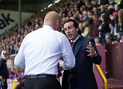 Burnley manager Sean Dyche (L) and Arsenal manager Unai Emery - Mandatory by-line: Jack Phillips/JMP - 12/05/2019 - FOOTBALL - Turf Moor - Burnley, England - Burnley v Arsenal - English Premier League