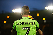 Forest Green Rovers Carl Winchester(7) during the EFL Sky Bet League 2 match between Lincoln City and Forest Green Rovers at Sincil Bank, Lincoln, United Kingdom on 3 November 2018.