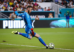July 31, 2018 - Miami Gardens, Florida, USA - Manchester United F.C. goalkeeper David De Gea (1) prepares to kick the ball during an International Champions Cup match between Real Madrid C.F. and Manchester United F.C. at the Hard Rock Stadium in Miami Gardens, Florida. Manchester United F.C. won the game 2-1. (Credit Image: © Mario Houben via ZUMA Wire)