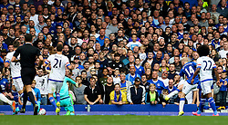 Everton's Steven Naismith scores his hat-trick goal for 3-1 - Mandatory byline: Matt McNulty/JMP - 07966386802 - 12/09/2015 - FOOTBALL - Goodison Park -Everton,England - Everton v Chelsea - Barclays Premier League