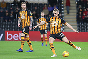 Hull City defender Stephen Kingsley (23) plays a pass during the EFL Sky Bet Championship match between Hull City and Swansea City at the KCOM Stadium, Kingston upon Hull, England on 22 December 2018.