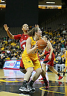 February 11 2013: Nebraska Cornhuskers guard Courtney Aitken (22) eyes the basket during the first half of the NCAA women's basketball game between the Nebraska Cornhuskers and the Iowa Hawkeyes at Carver-Hawkeye Arena in Iowa City, Iowa on Monday, February 11 2013.