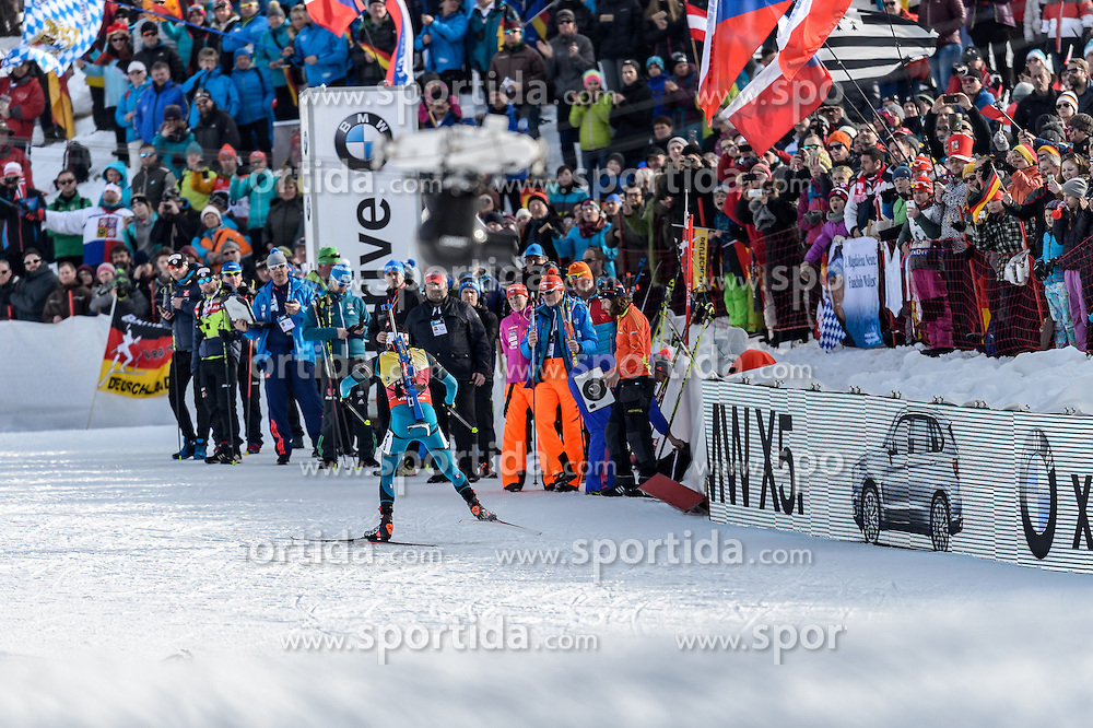 12.02.2017, Biathlonarena, Hochfilzen, AUT, IBU Weltmeisterschaften Biathlon, Hochfilzen 2017, Verfolgung Herren, im Bild Martin Fourcade (FRA) // Martin Fourcade of France during Mens pursuit of the IBU Biathlon World Championships at the Biathlonarena in Hochfilzen, Austria on 2017/02/12. EXPA Pictures © 2017, PhotoCredit: EXPA/ Stefan Adelsberger