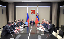 April 13, 2017 - Moscow Region, Russia - April 13, 2017. - Russia, Moscow Region, Novo-Ogaryovo. - Russian President Vladimir Putin holds a Russian Federation Security Council meeting. (Credit Image: © Russian Look via ZUMA Wire)