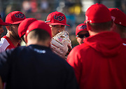 Team U.S.A huddles during a game between South Africa and the United States at the 2017 Men's World Softball Championship.