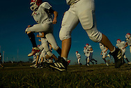 11/7/07 Smith Center, KS.Smith Center High School football team warms up during practice...(Chris Machian/Prairie Pixel Group)