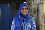 Ummul Jesmins, a migration health nurse with the International Organisation for Migration, pictured at a Diphtheria Treatment Centre in the Kutupalong mega-camp near Cox's Bazar in Bangladesh