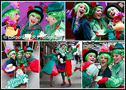 The Queens of Neon, Claire Gardiner (left), Lisa Smyth and Sharon Greene are pictured here at the St Patrick's Festival 15th Birthday Tea Party for the opening of St. Patrick's Festival 2010. Kicking off on Friday 12th March and running until 17th March, St. Patrick's Festival invites you to be a part of six days and nights of unmissable fun and entertainment. Pic Andres Poveda CPR
