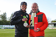 Forest Green Rovers Reece Brown(10) supporters player of the year during the EFL Sky Bet League 2 match between Forest Green Rovers and Exeter City at the New Lawn, Forest Green, United Kingdom on 4 May 2019.