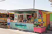 Beach side crafts shop in Dunmore Town, Harbour Island, The Bahamas