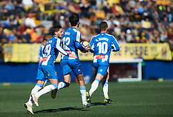 February 3, 2019 - Villarreal, Castellon, Spain - RCD Espanyol players celebrates a goal during the La Liga match between Villarreal and Espanyol at Estadio de la Ceramica on February 3, 2019 in Vila-real, Spain. (Credit Image: © Maria Jose Segovia/NurPhoto via ZUMA Press)