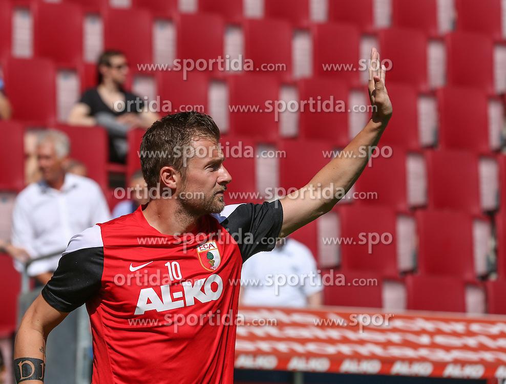 06.07.2014, SGL Arena, Augsburg, GER, 1. FBL, FC Augsburg, Training, im Bild Daniel Baier (FC Augsburg #10), // during a Trainingssession of German Bundesliga Club FC Augsburg at the SGL Arena in Augsburg, Germany on 2014/07/06. EXPA Pictures &copy; 2014, PhotoCredit: EXPA/ Eibner-Pressefoto/ Krieger<br /> <br /> *****ATTENTION - OUT of GER*****