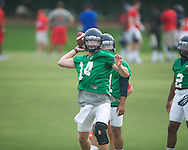 Ole Miss' Bo Wallace at football practice in Oxford, Miss. on Saturday, August 3, 2013.