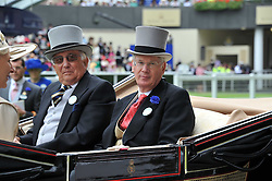 Left to right, MR CHRISTOPHER RHYS-JONES and the DUKE OF GLOUCESTER at day 2 of the 2011 Royal Ascot Racing festival at Ascot Racecourse, Ascot, Berkshire on 15th June 2011.