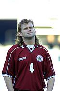 22.05.2002, Olympic Stadium, Helsinki, Finland..Friendly International match, Finland v Latvia..Mihails Zemlinskis - Latvia.©Juha Tamminen