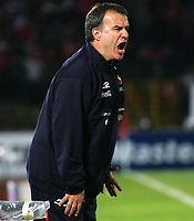 Fotball<br /> Foto: Piko Press/Digitalsport<br /> NORWAY ONLY<br /> <br /> CHILE (4) vs. COLOMBIA (0) in their World Cup 2010 qualifying soccer match in Santiago, Chile. September 10, 2008<br /> Here CHILE head coach MARCELO BIELSA