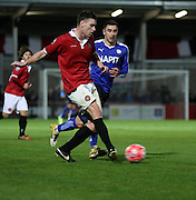 FC United attack during the The FA Cup match between FC United of Manchester and Chesterfield at Broadhurst Park, Manchester, United Kingdom on 9 November 2015. Photo by Pete Burns.