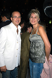 PAUL MCKENNA and CLARE STAPLES at a party hosted by Frankie Dettori, Marco Pierre White and Edward Taylor to celebrate the launch of Frankie's Italian Bar & Grill at 3 Yeoman's Row, London SW3 on 2nd September 2004.
