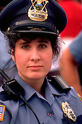 Woman police officer age 26 at Grand Old day celebration.  St Paul Minnesota USA