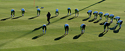 Players of Slovenia during a training session at  Hyde Park High School Stadium on June 16, 2010 in Johannesburg, South Africa.  (Photo by Vid Ponikvar / Sportida)