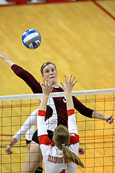 05 November 2010: Alsia Mayes during an NCAA volleyball match between the Southern Illinois Salukis and the Illinois State Redbirds at Redbird Arena in Normal Illinois.