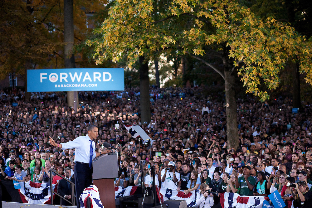 President Barack Obama visited Ohio University in Athens, Ohio on Wednesday, October 17, 2012.