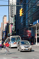 trafficon west 42nd street in New york City in October 2008