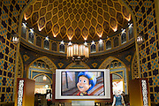 Ibn Battuta shopping mall, named after the famous Arabic traveller, here shown in a cartoon about his adventurous life.